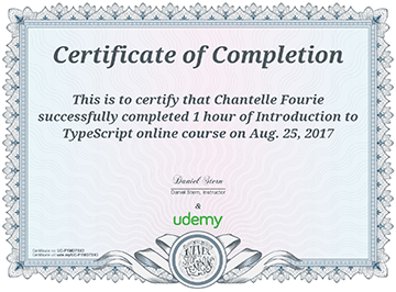 Introduction to TypeScript - Completion Certifi
