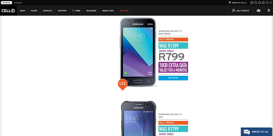 Cell C Black Friday 2017 | Image 919