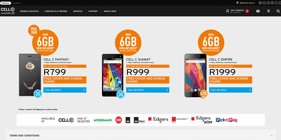 Cell C Edcon Deals | Image 922