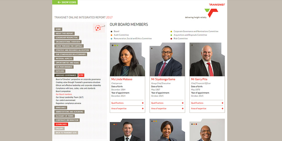 Transnet Online Integrated Report 2017 | Image 1048