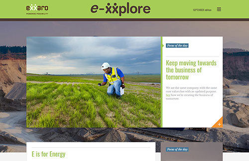 Exxaro E-xxplore Newsletter Template