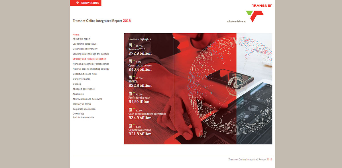 Transnet Online Integrated Report 2018 | Image 1075