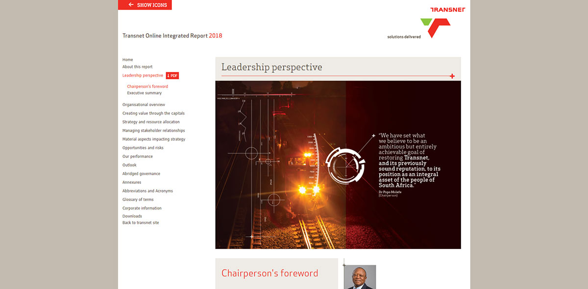 Transnet Online Integrated Report 2018 | Image 1076
