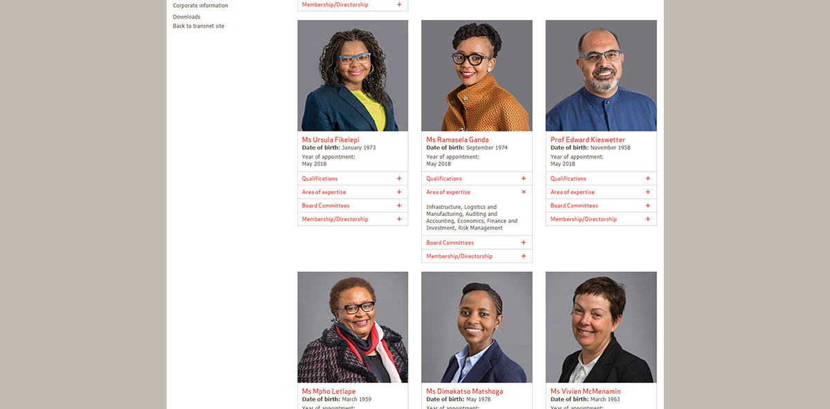 Transnet Online Integrated Report 2018 | Image 1088