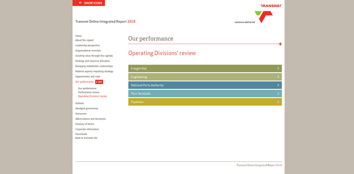 Transnet Online Integrated Report 2018 | Image 1096