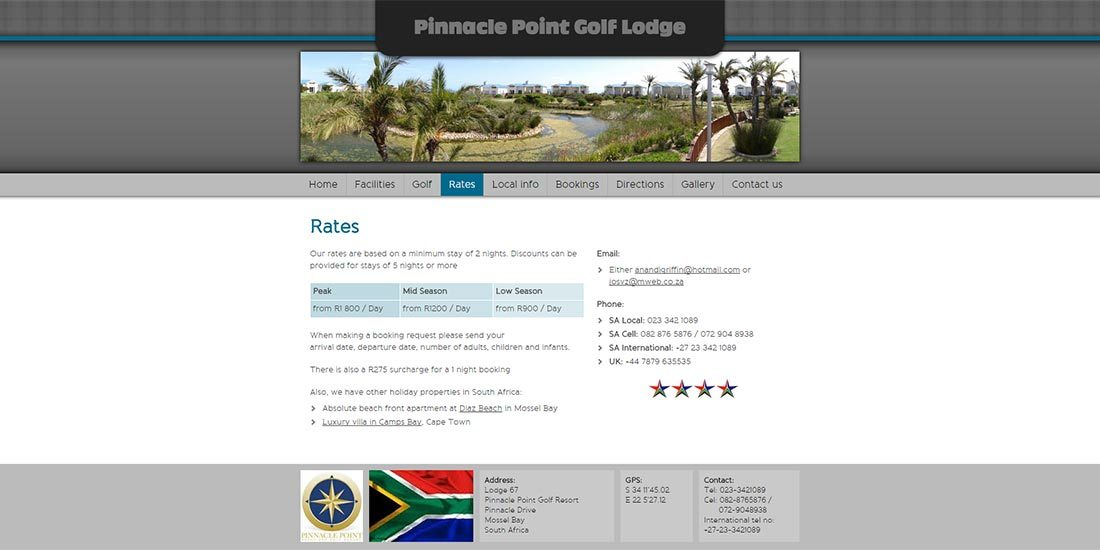 Pinnacle Point Golf Lodge | Image 310
