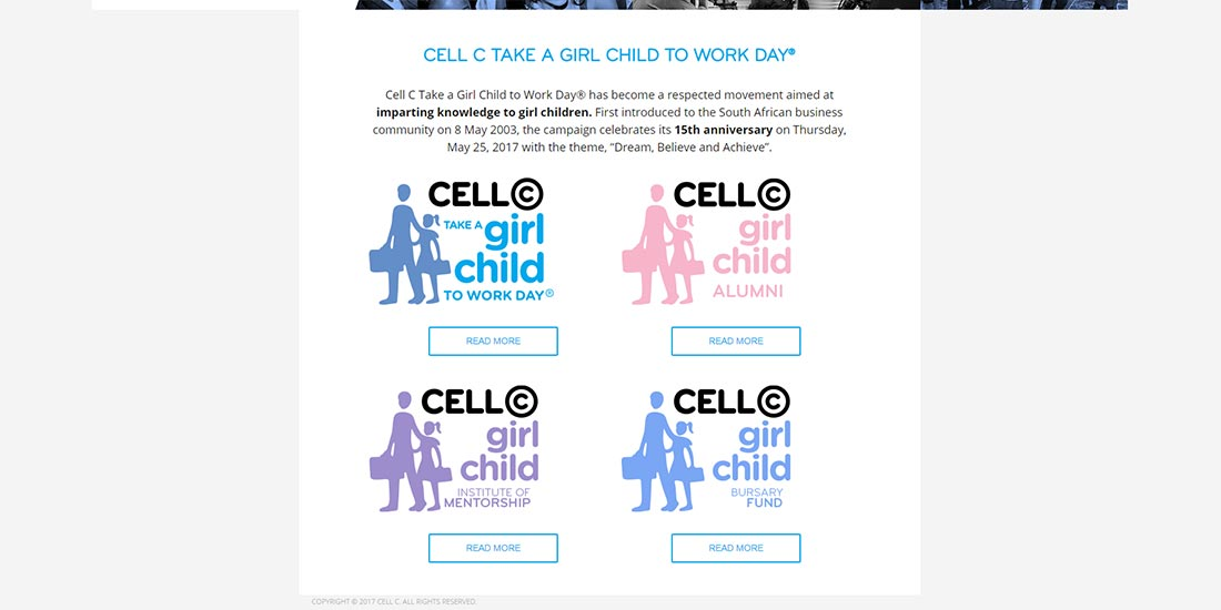 Cell C Girl Child | Cell C Girl Child - Home Page Content